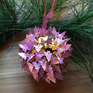 Pink Christmas Tree Ball Ornament available at Bench Home