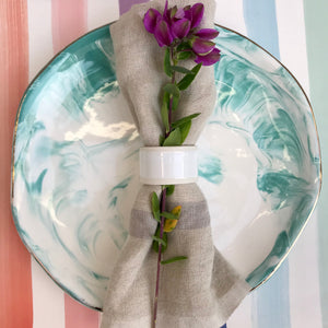 Marbled Dinner Plate | 3 Colors available at Bench Home