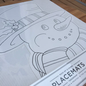 Snowman Coloring Placemats available at Bench Home
