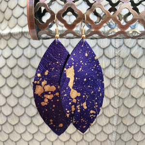 Speckled Feather Earrings | 2 Colors available at Bench Home