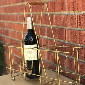 Brass & Wire Bottle Holder available at Bench Home