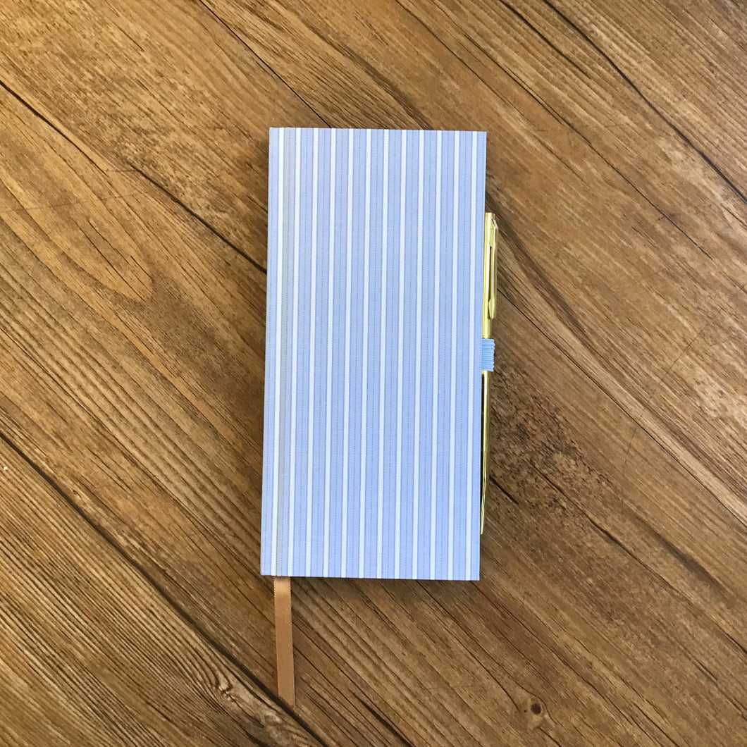 Pinstripe Notebook with Pen | 3 Colors