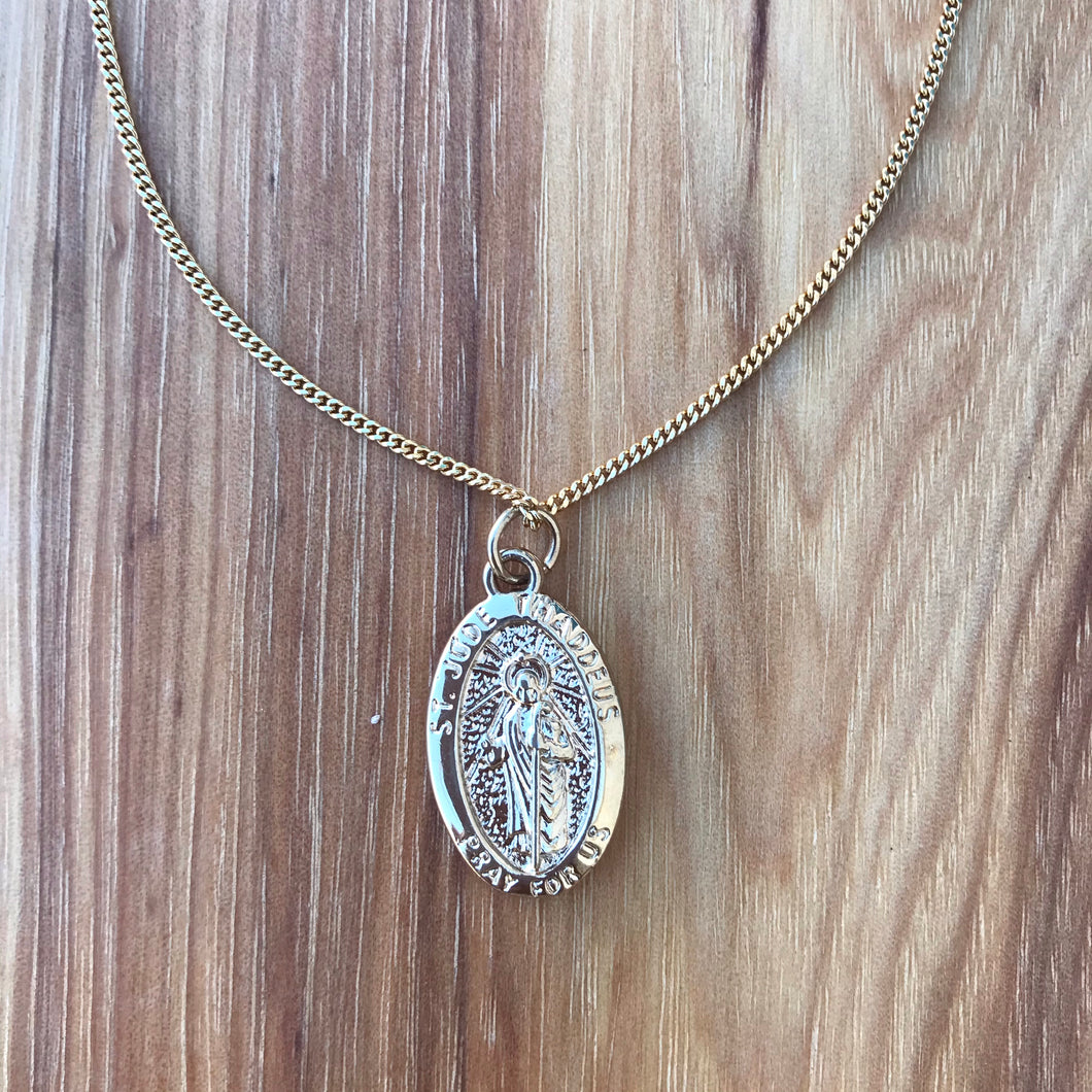 Gold Saint Jude Necklace