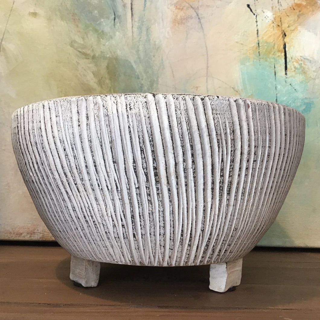 Textured Footed Planter