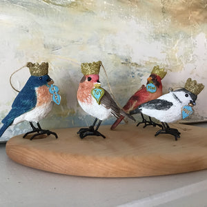 Crowned Bird Ornament | 4 Styles available at Bench Home