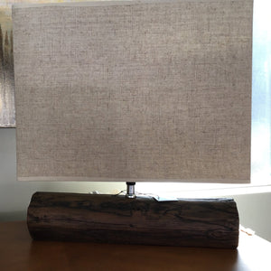 Resin Log Lamp available at Bench Home