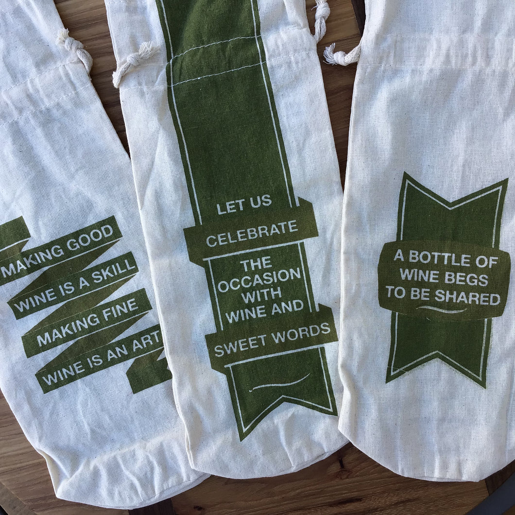 Cotton Wine Bags | 3 Styles