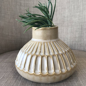 Textured Stoneware Vase available at Bench Home