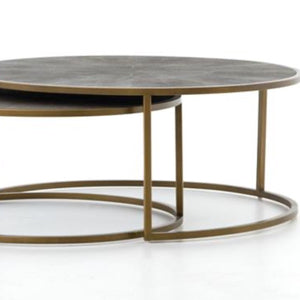 Shagreen Nesting Coffee Table available at Bench Home