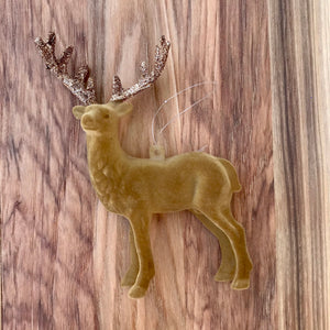 Flocked Deer Ornament | 2 Colors available at Bench Home
