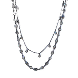 Oxidized Labradorite Necklace available at Bench Home