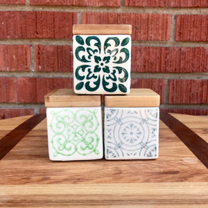 Small Square Canisters | 3 Styles available at Bench Home