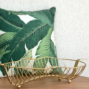 Banana Leaf Wire Fruit Bowl available at Bench Home