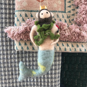 Felt Merman Ornament | 2 styles available at Bench Home