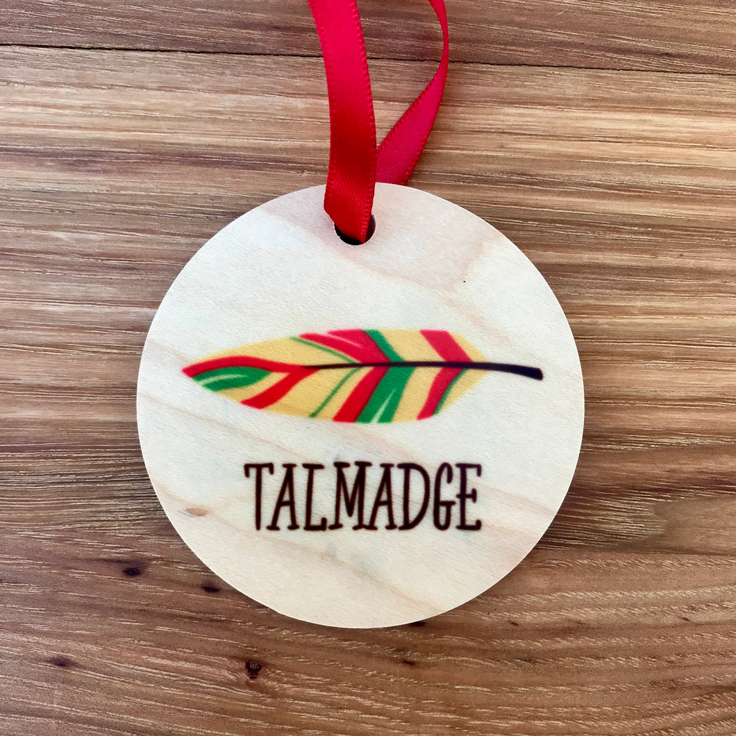 Talmadge Wood Ornaments | 3 Styles