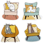 Cats on Chairs Sticker Pack