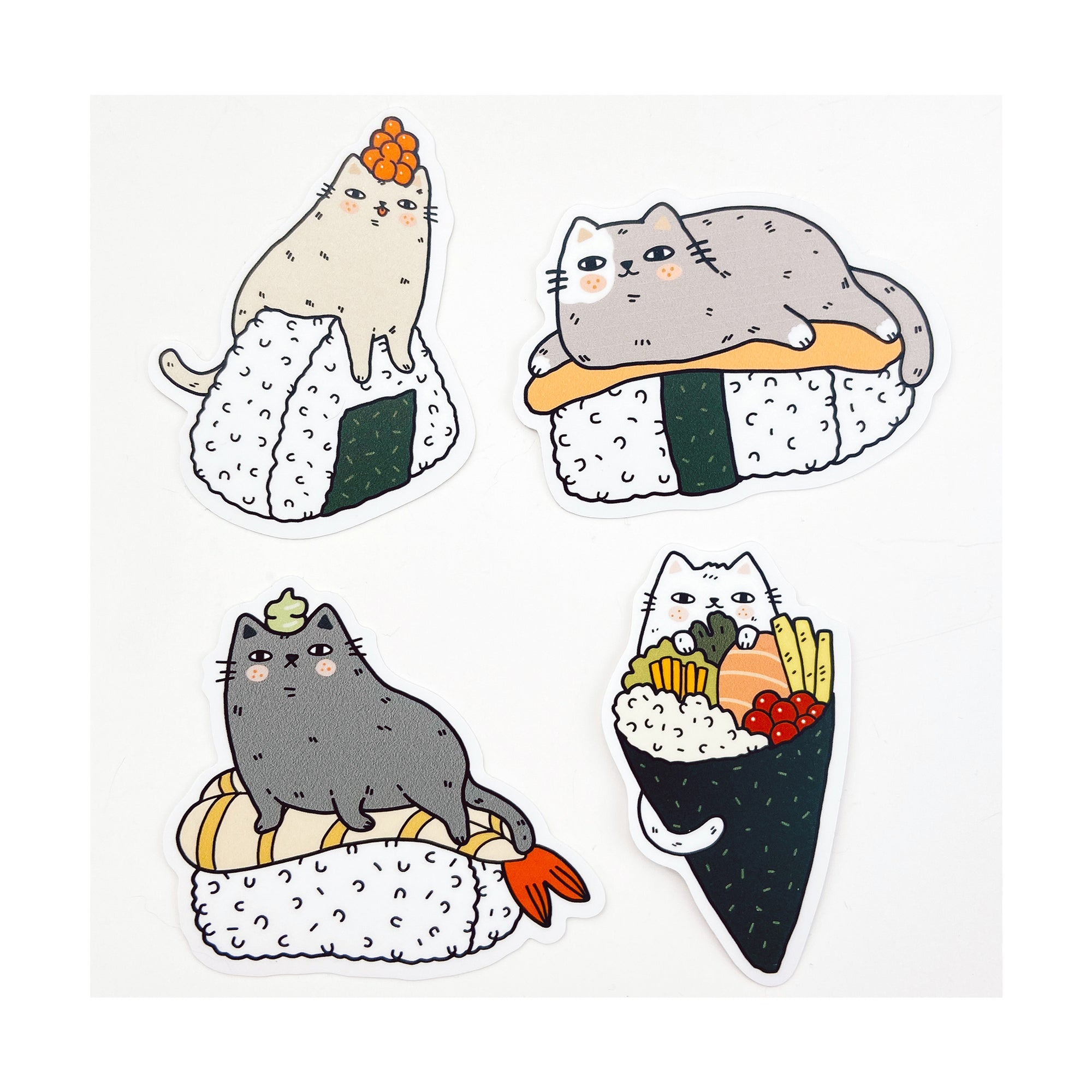 Sushi Cats Sticker Pack