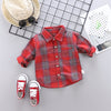 Kids Plaid Shirt  For 1-4Yrs Boy
