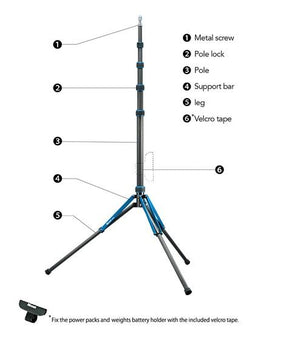 Load image into Gallery viewer, LS-65C Carbon Fiber Light Stand (106in max height)