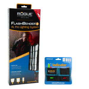 Load image into Gallery viewer, Rogue FlashBender 2 - XL Pro Lighting System + Indicator Battery Pouch