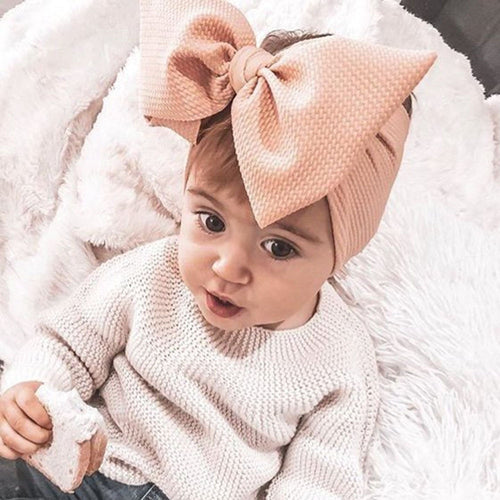 Adjustable Big Bow Headwrap Baby Headband Top Knot Headbands Over Sized Bow Hair Turban