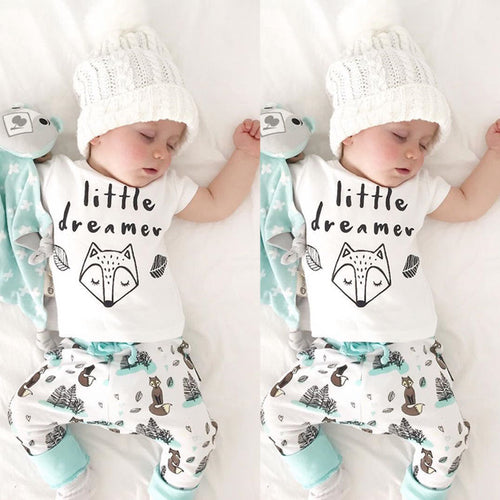Little dreamer infant baby boy 2 piece set