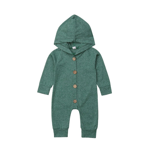 7 Color Baby Boy Girl Fall Winter Hooded Romper Jumpsuit
