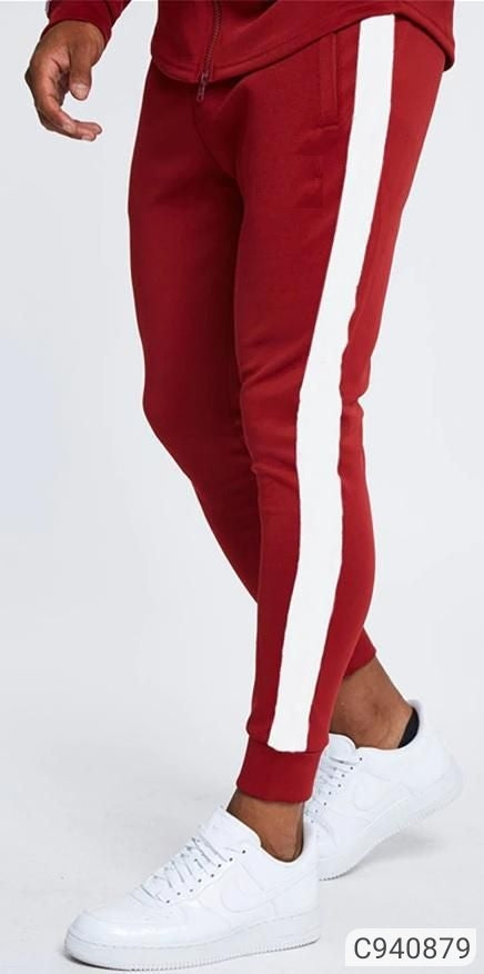 Apple Red Striped Joggers