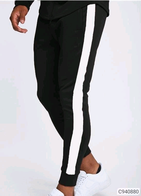 Extreme Black Striped Joggers