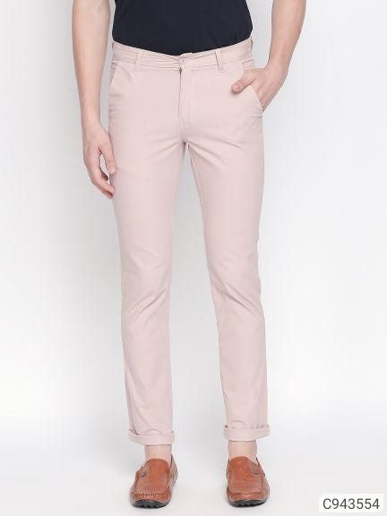 Flamingo Pink Solid Chinos
