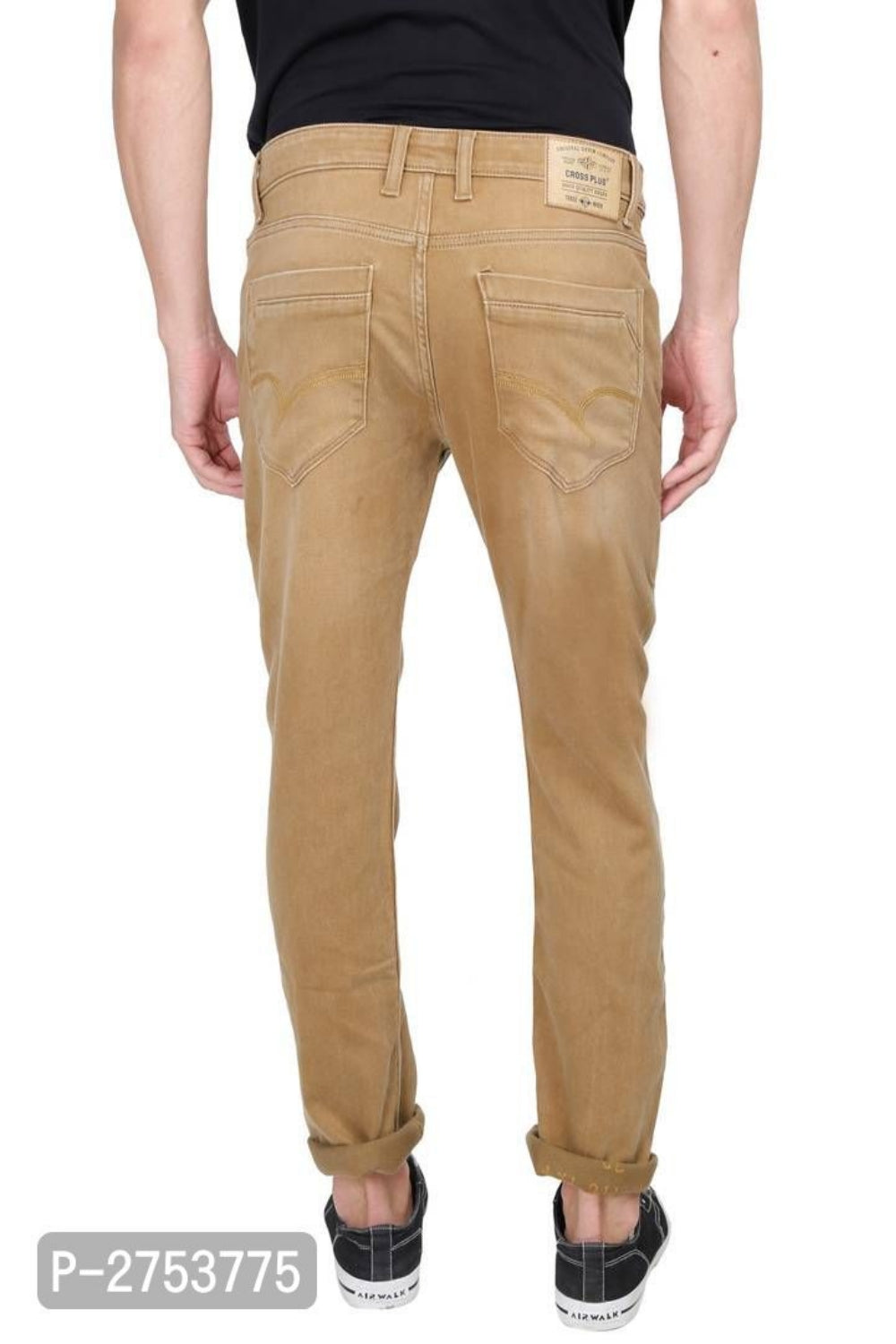 Tan Brown Stretchable Denim Jeans