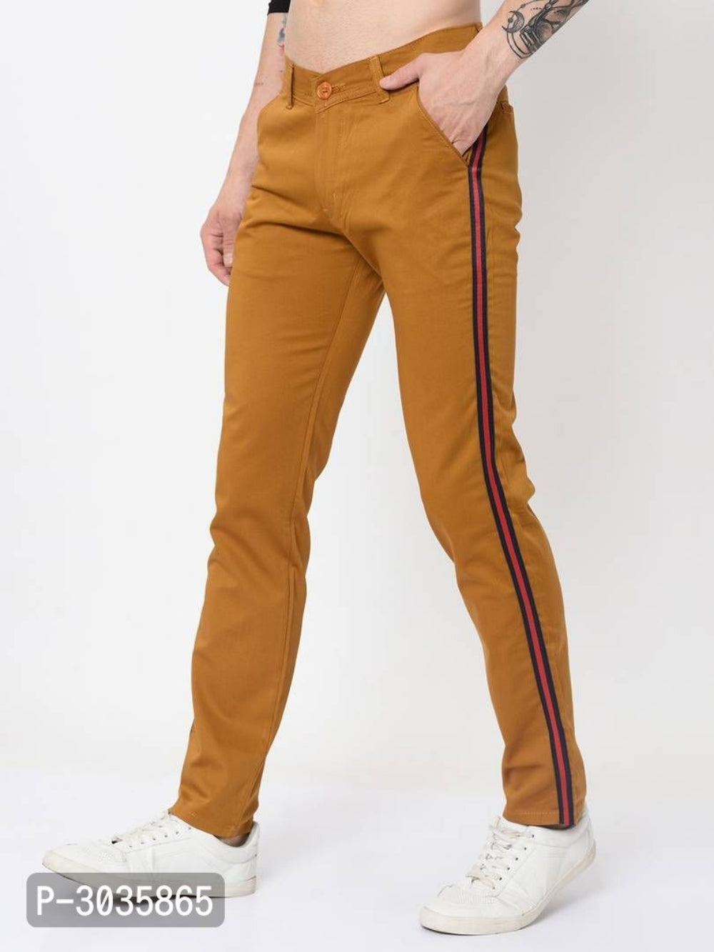 Burnt Orange Side Tape Trousers