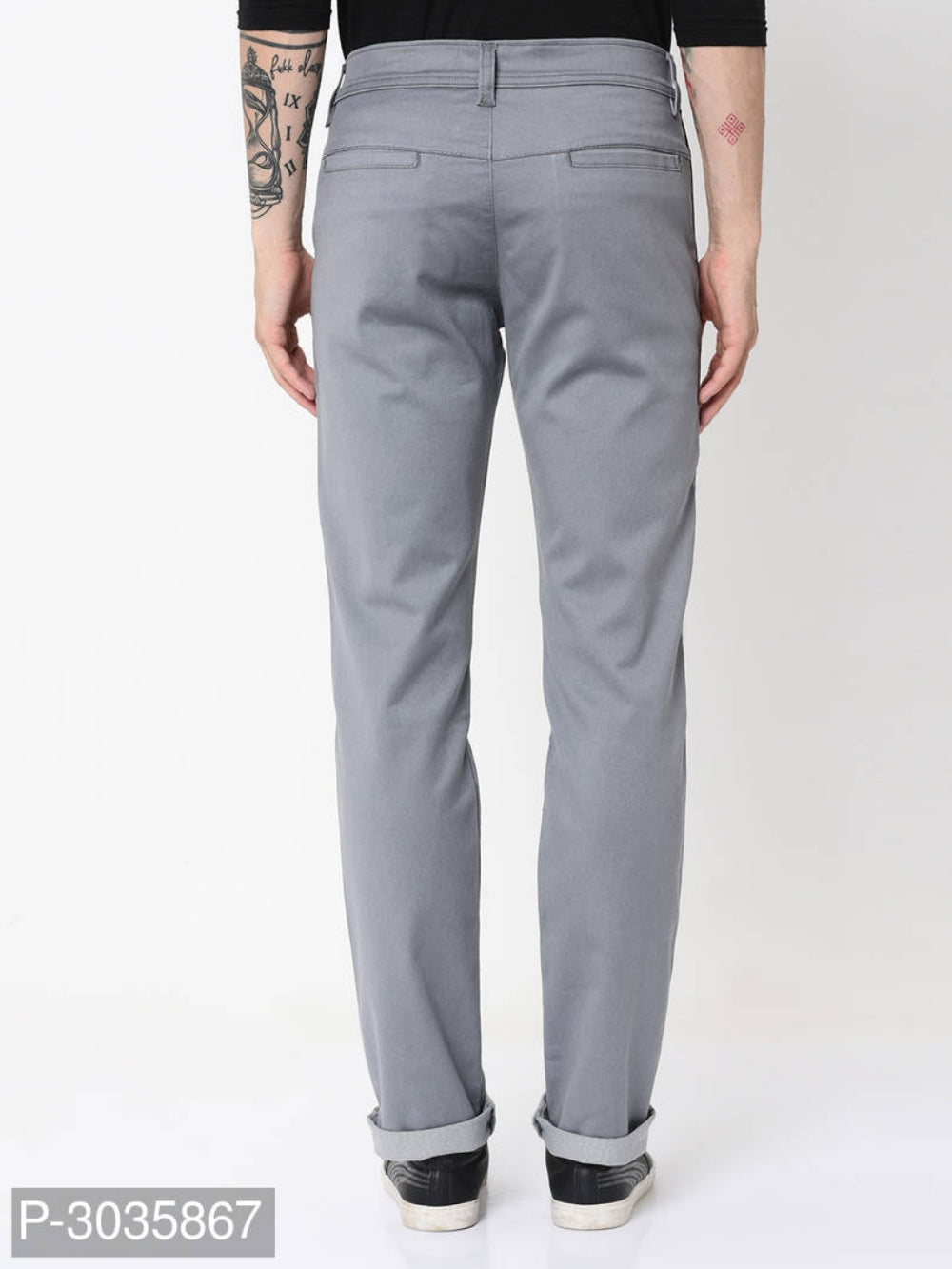 Ash Grey Side Tape Jeans