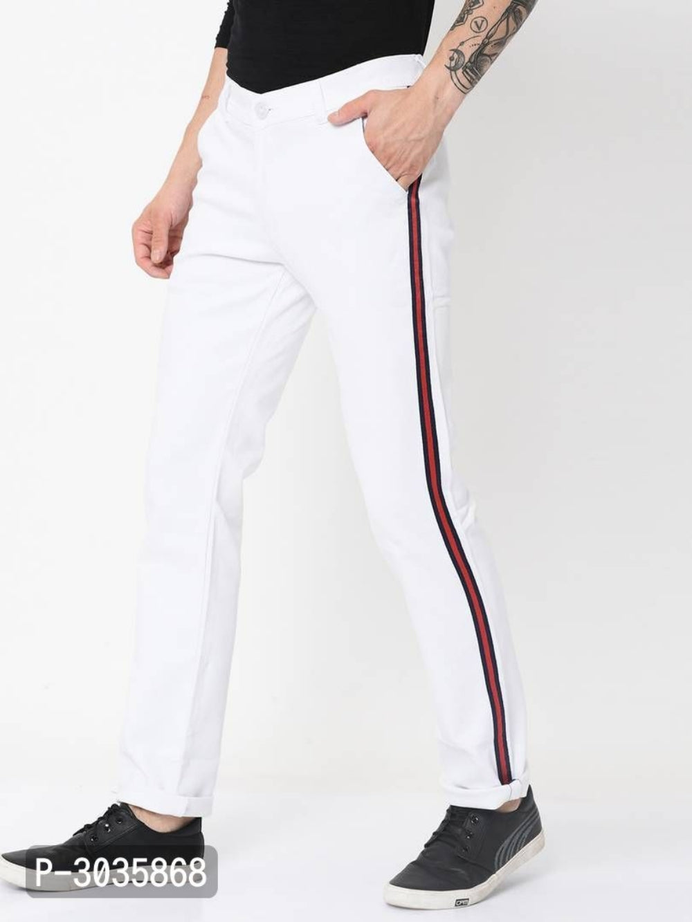 Extreme White Side Tape Jeans