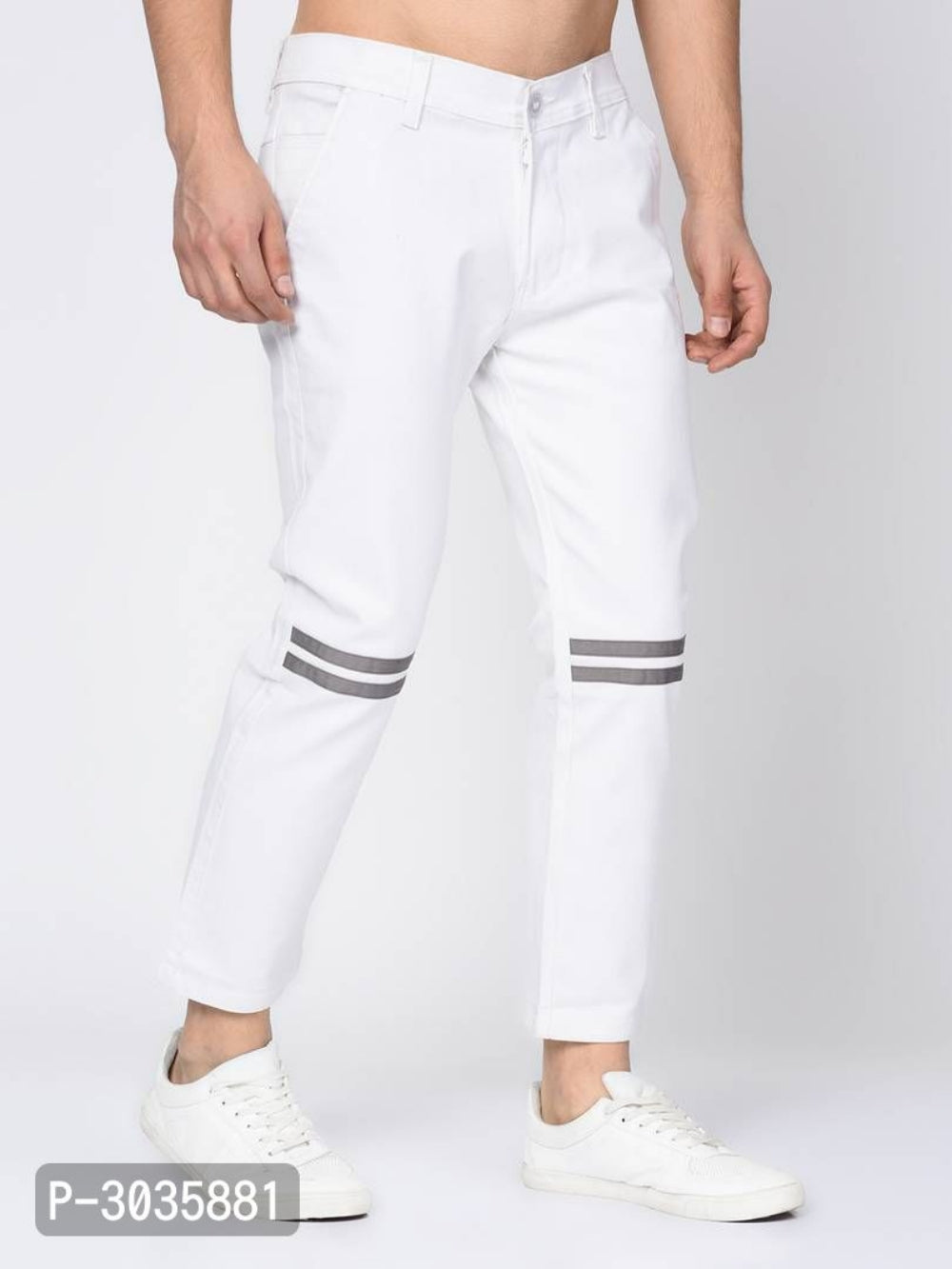Extreme White Knee Tape Chinos