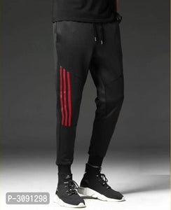 Extreme Black Red Stripe Polyster Joggers