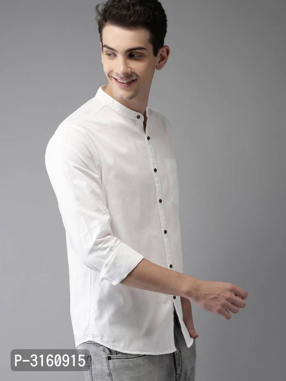 Milk White Solid Long Sleeve Shirt