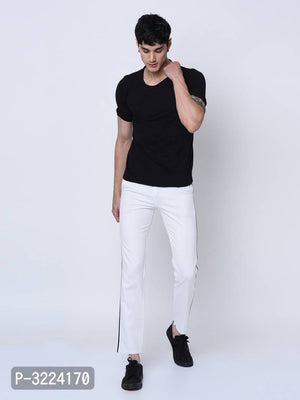 Milk White Side Tape Chinos
