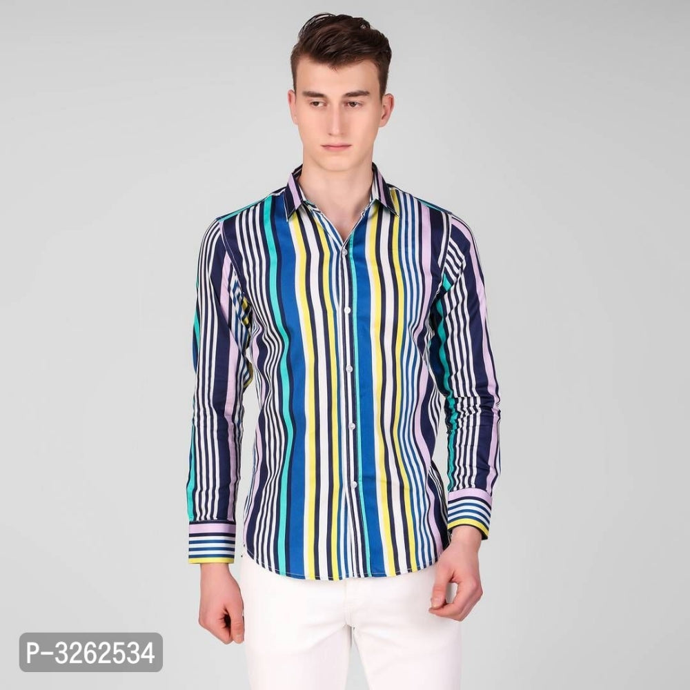 Multicoloured Vertical Stripe Long Sleeve Shirt