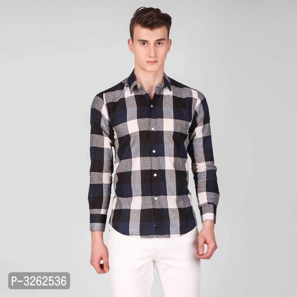 Multicoloured Checked Long Sleeve Shirt