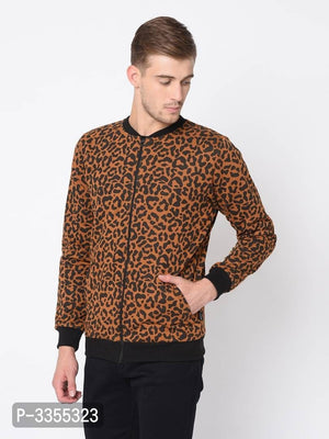 Leopard Print Fleece Jacket