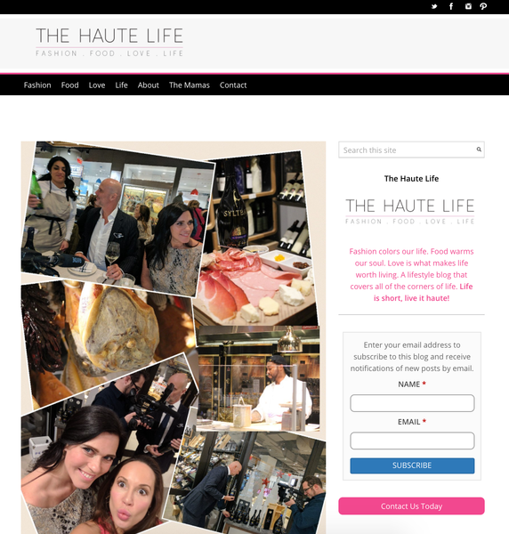 the haute life with SYLTBAR at Eataly
