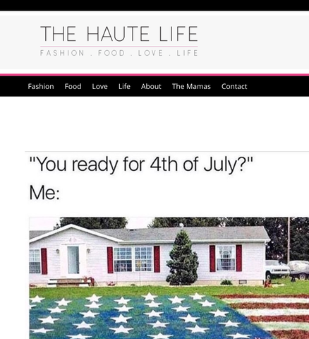 haute life fourth of july