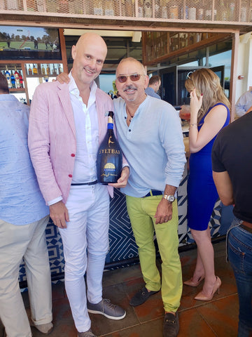 Carlos Suarez CEO and Founder at Venice Fort Lauderdale's Magazine with Claus Blohm Founder of SY=