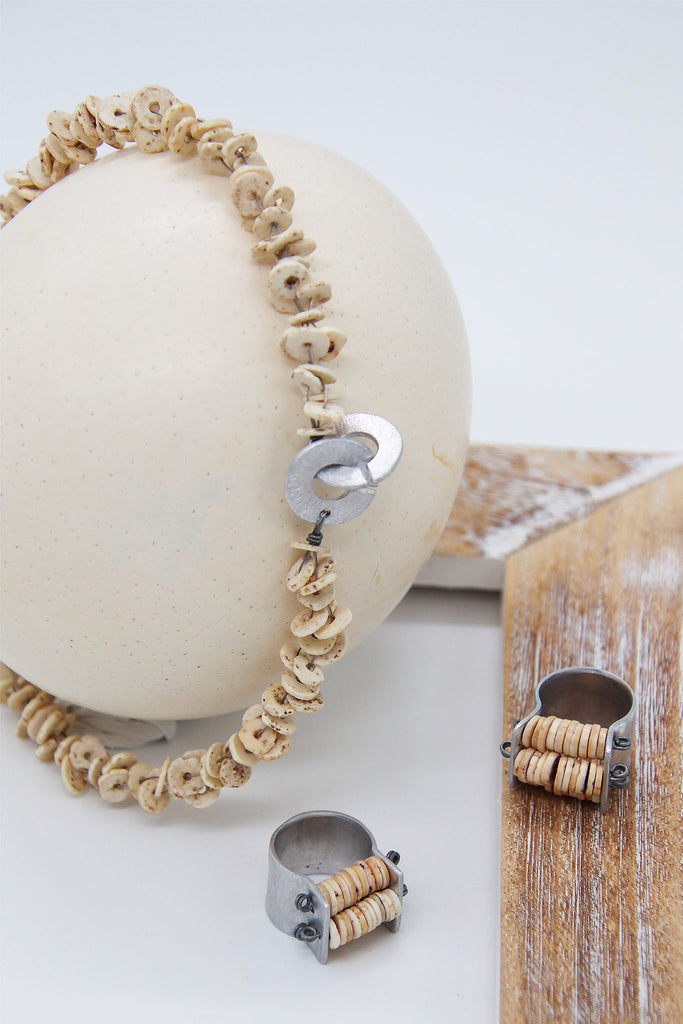 Ekipa - Onjeva Ostrich Egg Shell Necklace