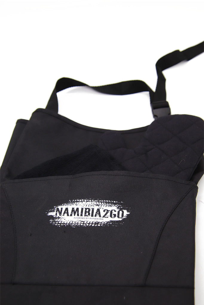 Gondwana - Namibia 2 Go branded Braai Apron with Oven Mitt & Cloth