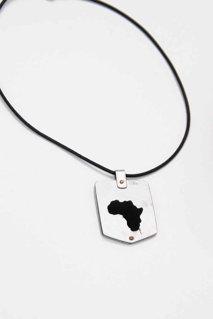 Ekipa- Africa Map Springbok Necklace