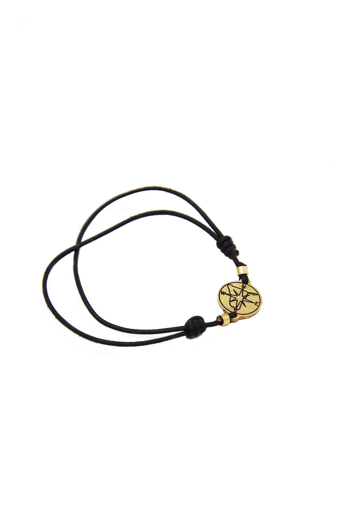 Tameka - Unisex Compass Bracelet with leather Pouch