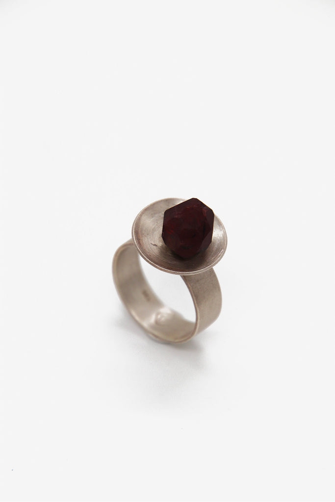 Minestones - Namibian Red Garnet Ring