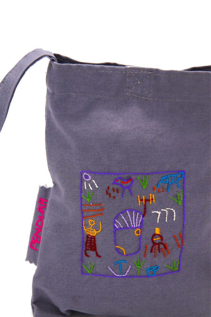 Penduka Village Story Hand Embroidered Sling Bag